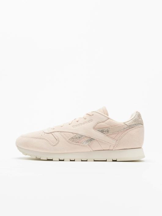 Rose 420365 Reebok Leather Baskets Shimmer Classic Femme qgYtPYZw