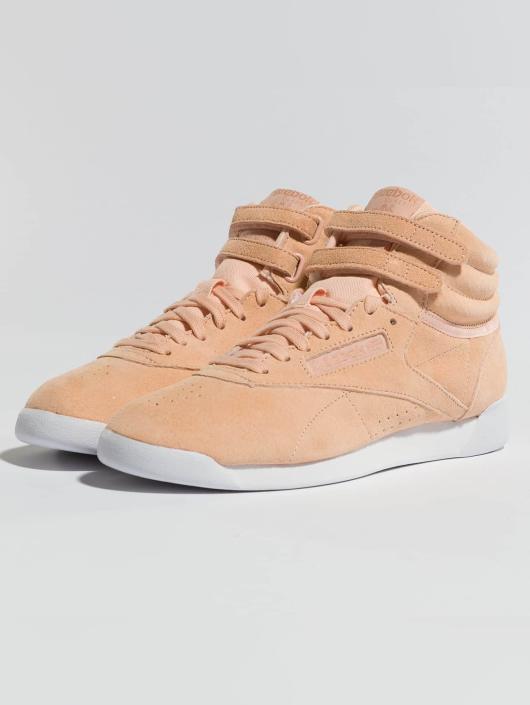 Reebok Sneakers Freestyle Hi Nubuk rózowy