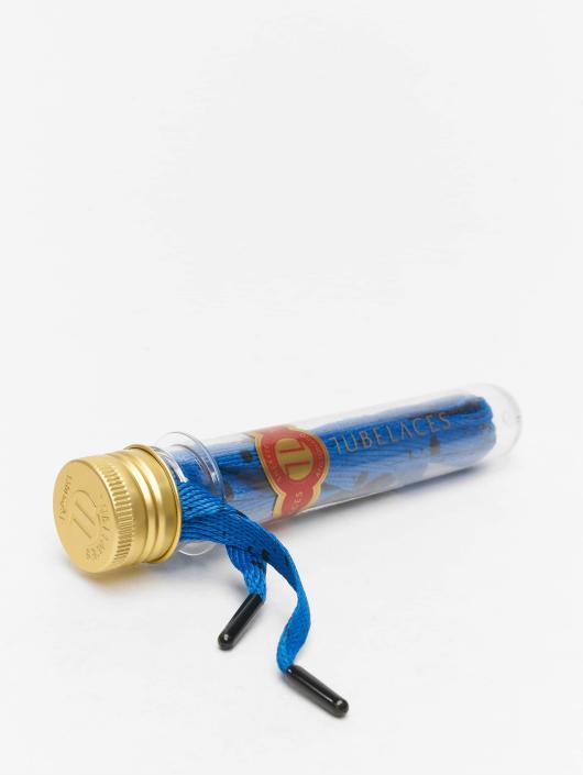 Tubelaces Schoenveter Flat Splatter II blauw