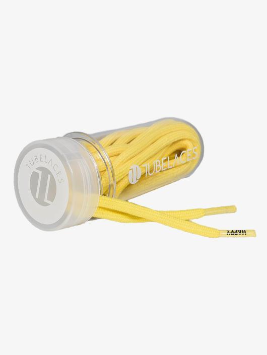 Tubelaces Schoenveter White Rope Word Up II geel