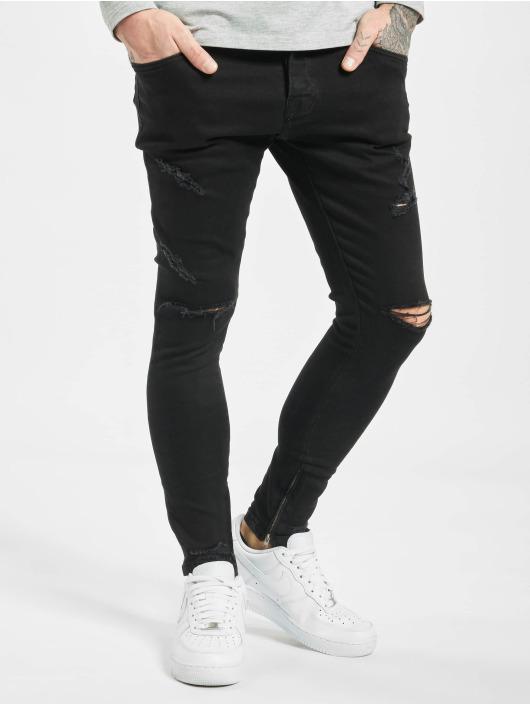 2Y Облегающие джинсы Tezzy Skinny Fit черный