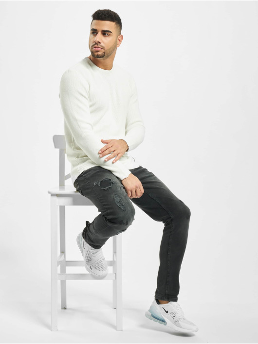 2Y Пуловер Moss белый