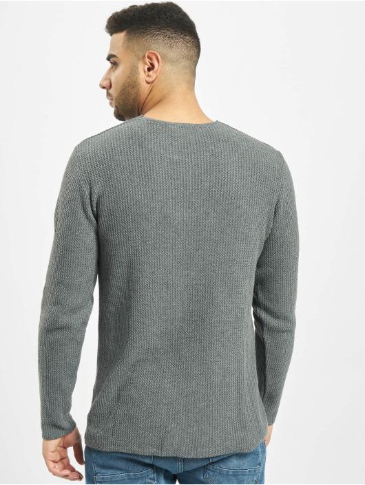 2Y Пуловер Tree серый
