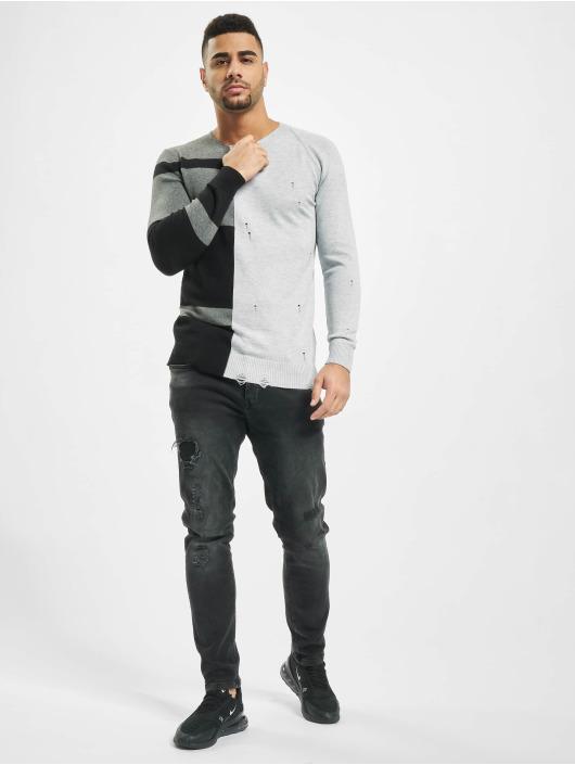 2Y Пуловер Poplar серый
