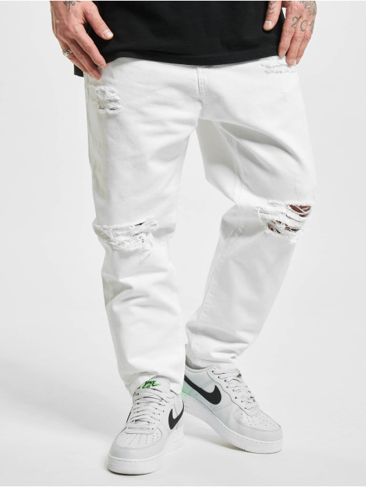 2Y dżinsy przylegające Slim bialy