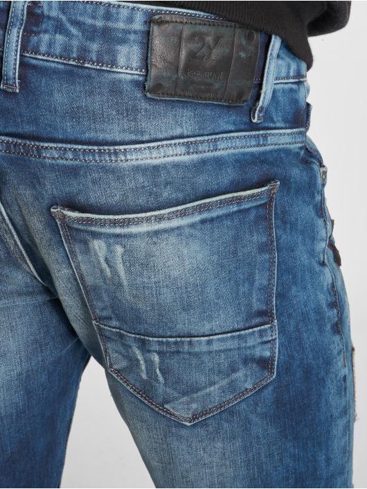 2Y dżinsy przylegające Premium niebieski