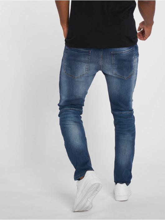 2Y dżinsy przylegające Leoman niebieski