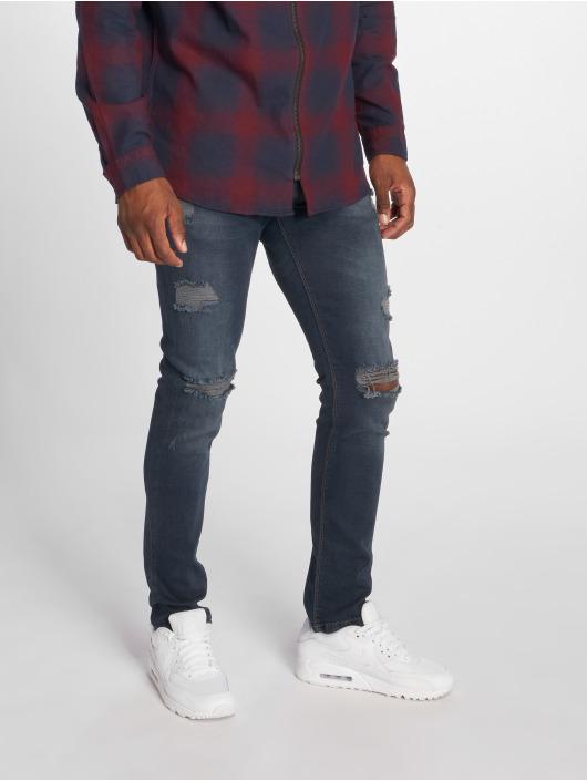 2Y dżinsy przylegające Slim Fit niebieski