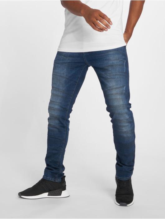 2Y dżinsy przylegające Duarte niebieski
