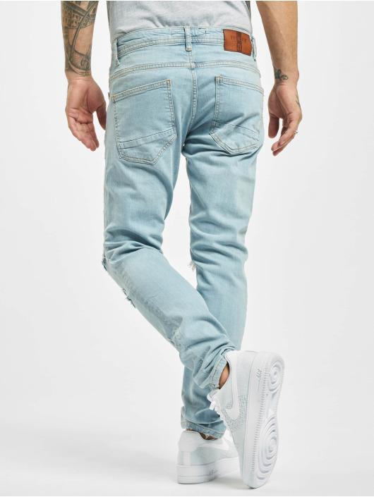 2Y dżinsy przylegające Norman niebieski