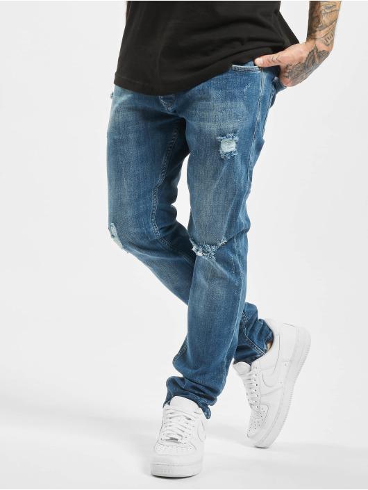 2Y dżinsy przylegające Mika niebieski