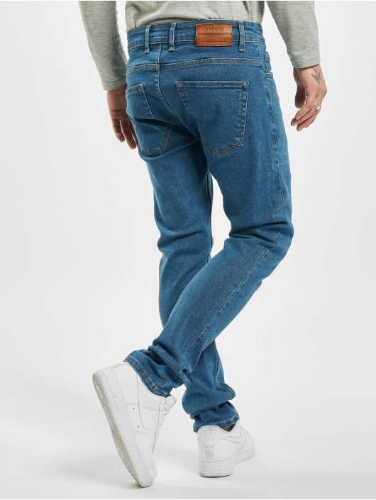2Y dżinsy przylegające Malik niebieski