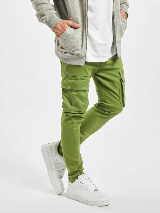 2Y dżinsy przylegające Emilio zielony