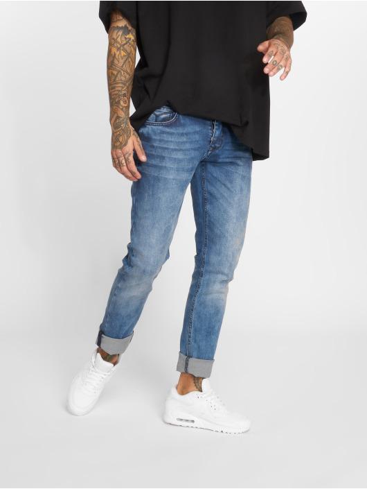 2Y Jeans ajustado Stone Washed azul
