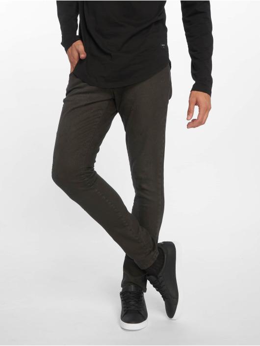 2Y Jeans ajustado Terry negro