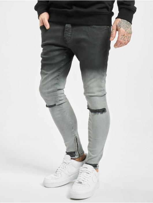 2Y Jeans ajustado Mani negro