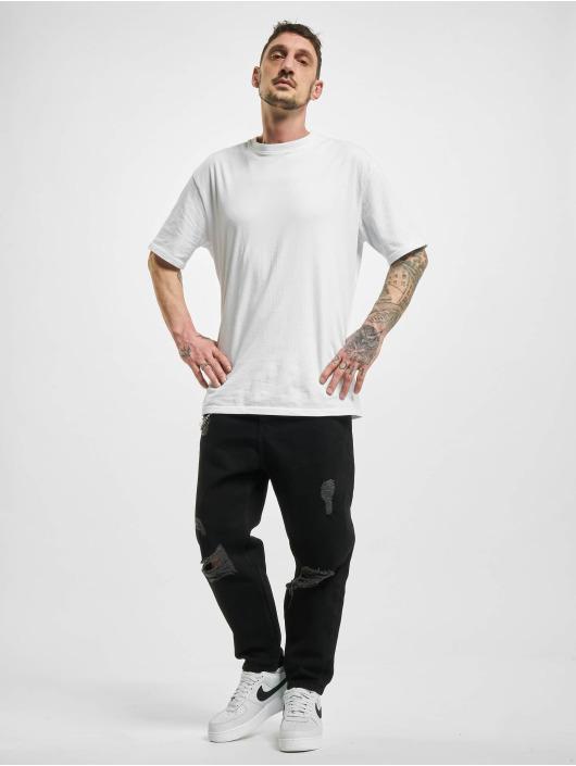 2Y Jeans ajustado Chain negro