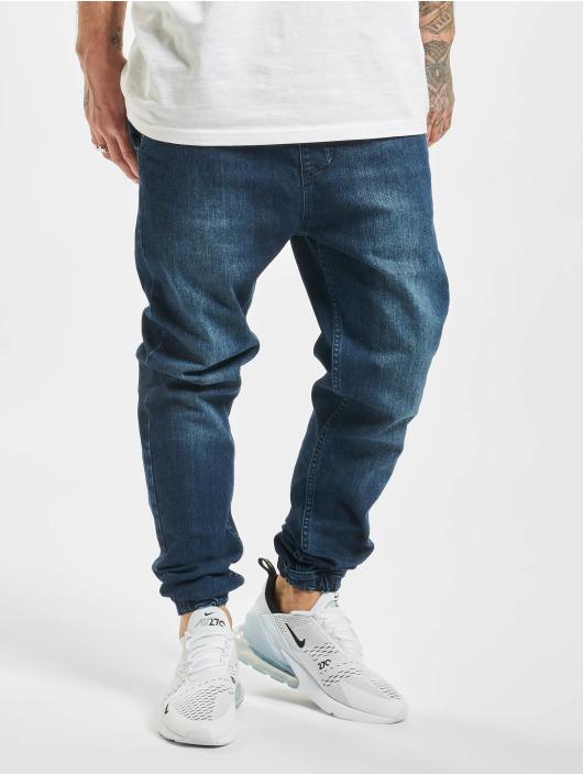 2Y Jogging kalhoty Denim modrý