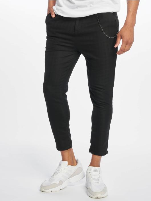 2Y Látkové kalhoty Toby čern