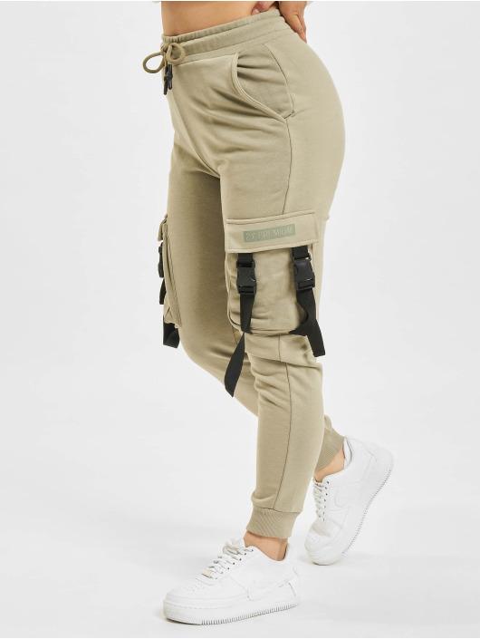 2Y Pantalon cargo Wally olive