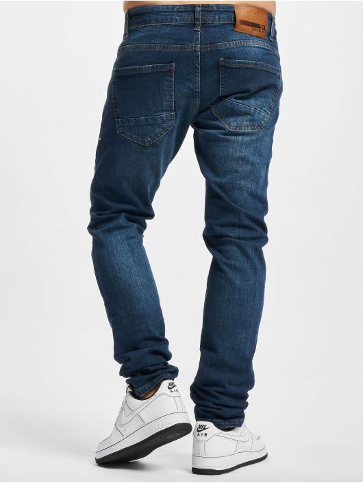 2Y Premium dżinsy przylegające Caner niebieski