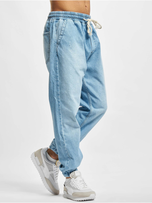 2Y Premium Joggebukser Denim blå
