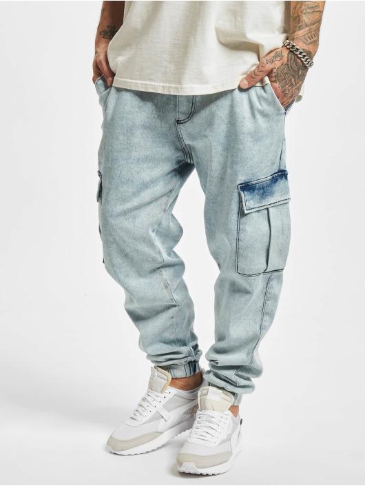 2Y Premium Spodnie Chino/Cargo Janis niebieski