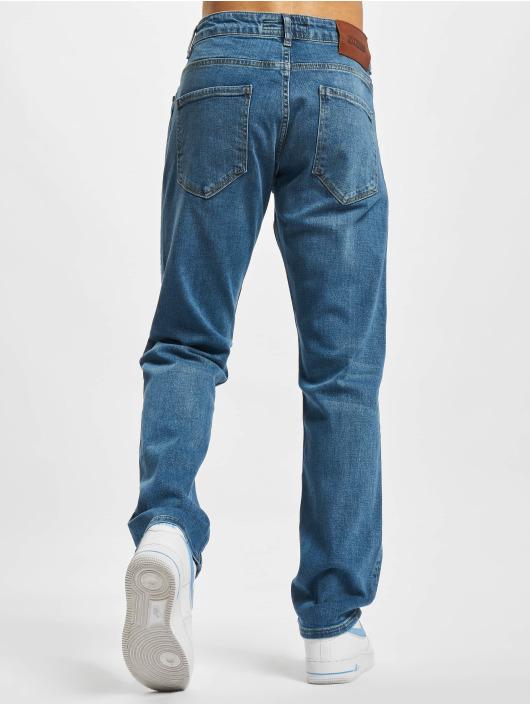 2Y Premium Straight Fit Jeans Cem modrý