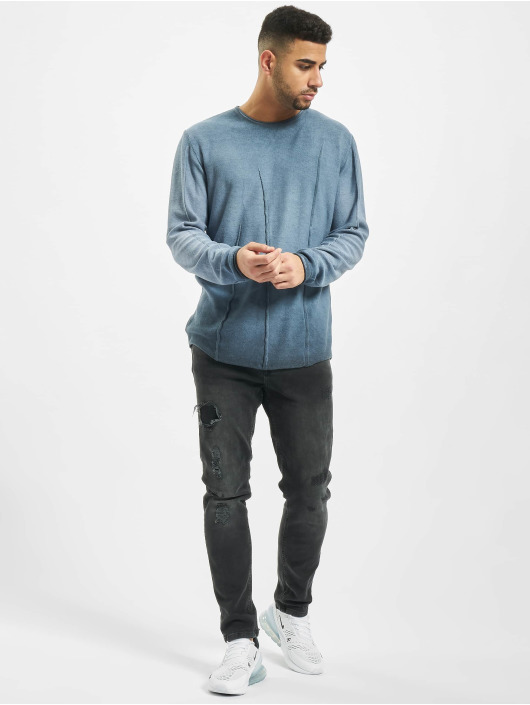 2Y Pullover Beech blau