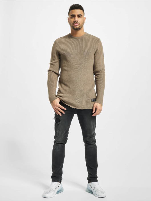 2Y Pullover Moss brown