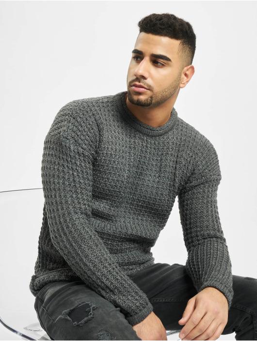 2Y Pullover Twig grau