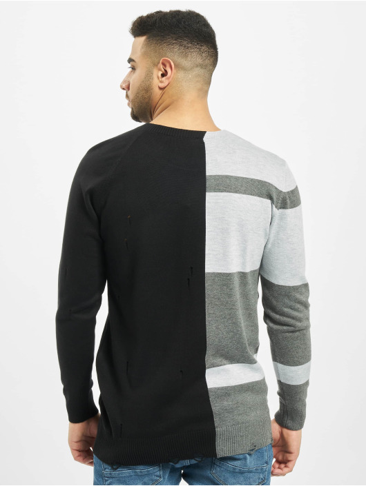 2Y Pullover Poplar Knit schwarz