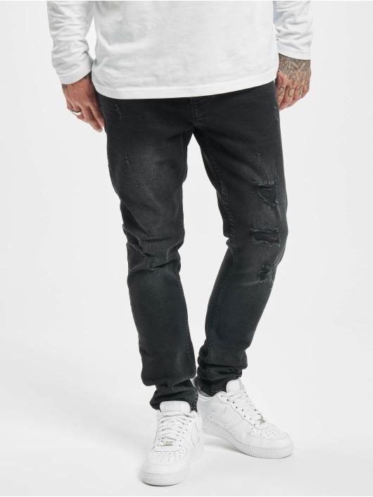 2Y Skinny Jeans Denis schwarz