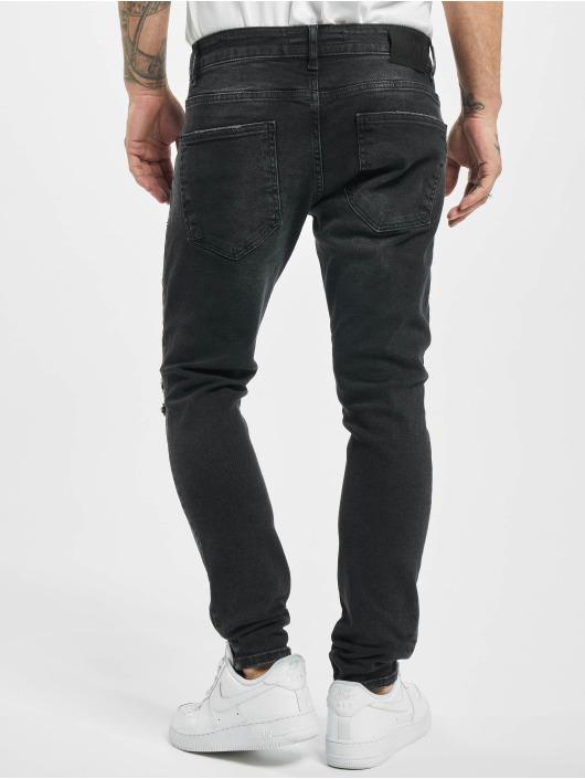 2Y Skinny Jeans Ali schwarz