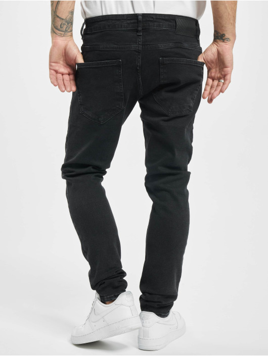 2Y Skinny Jeans Matt schwarz