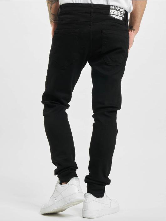2Y Skinny Jeans Fresno schwarz