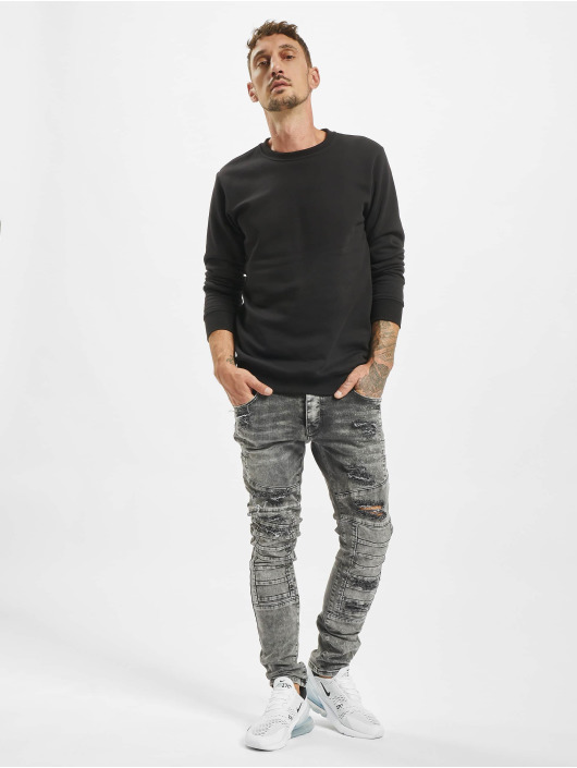 2Y Slim Fit -farkut Critic harmaa