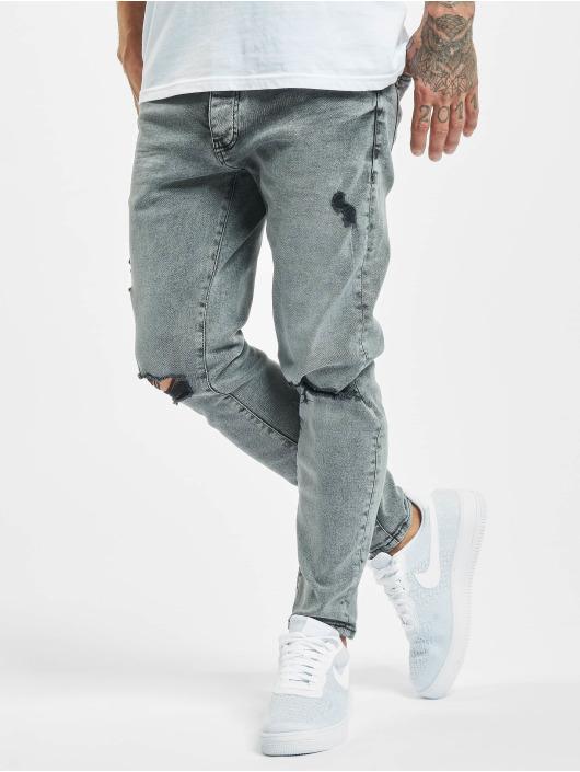 2Y Slim Fit -farkut Berk harmaa