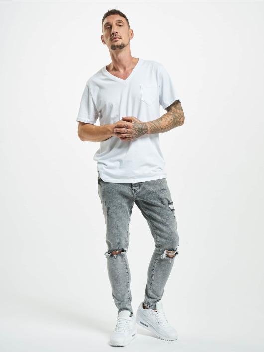 2Y Slim Fit -farkut Junus harmaa