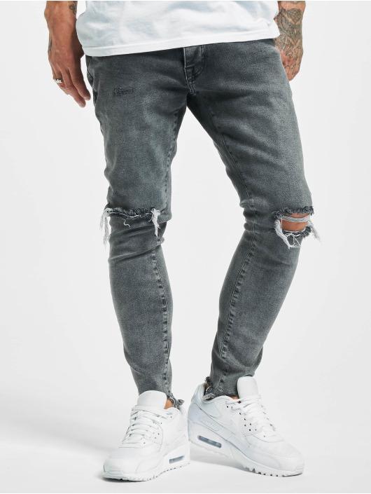 2Y Slim Fit -farkut Kartal harmaa