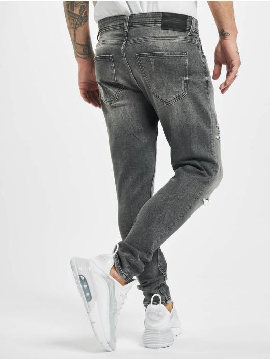 2Y Slim Fit -farkut Jo harmaa