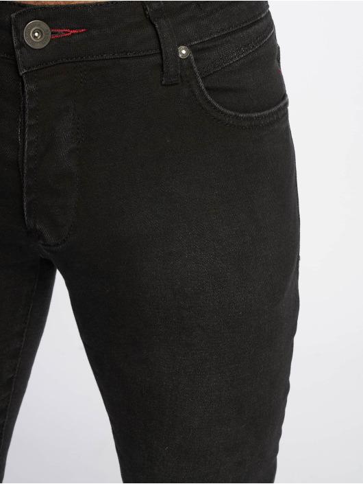 2Y Slim Fit -farkut Taron musta