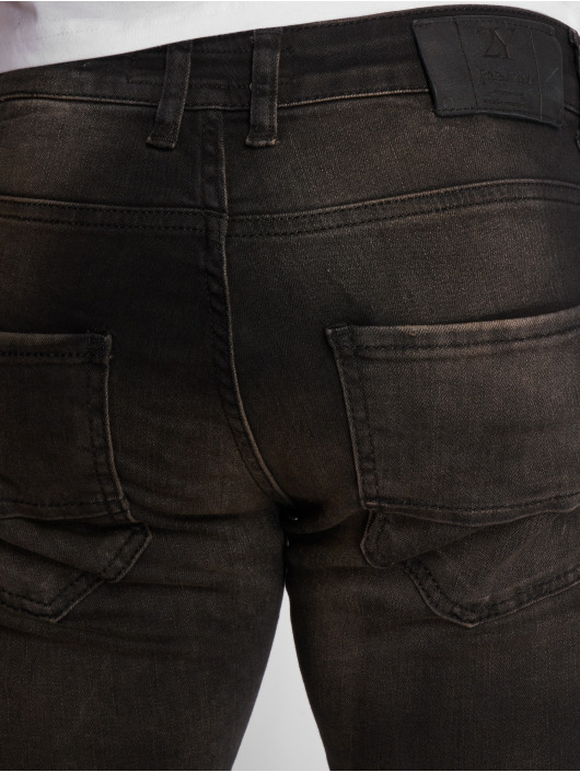 2Y Slim Fit -farkut Aleo musta