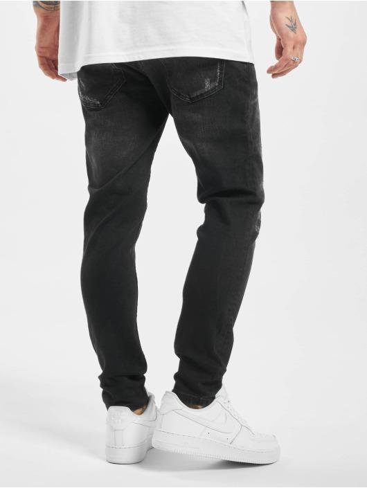 2Y Slim Fit -farkut Aaron musta