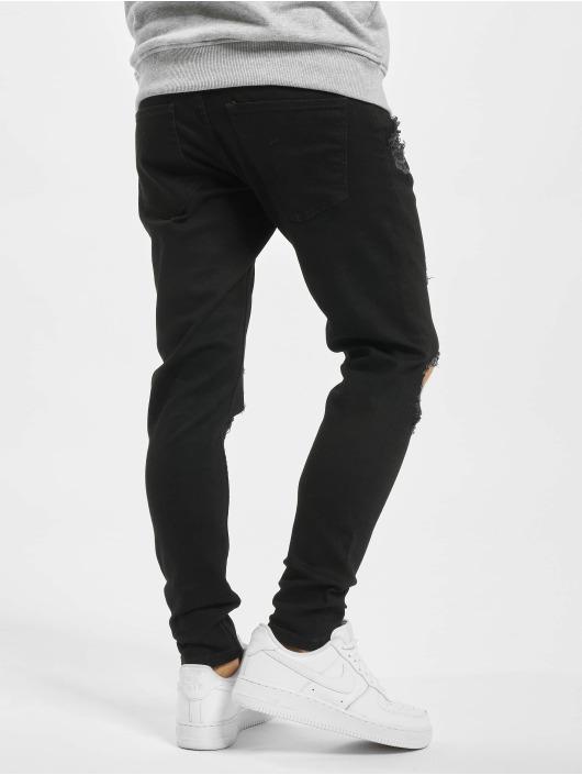 2Y Slim Fit -farkut Jona musta