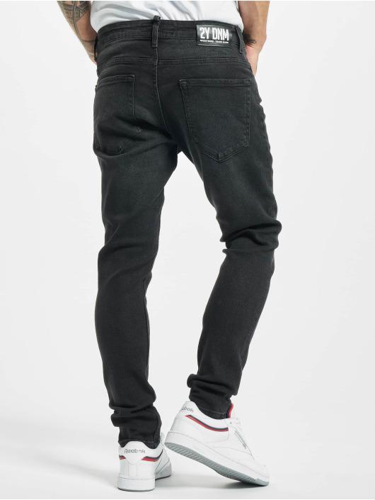 2Y Slim Fit -farkut Boran musta