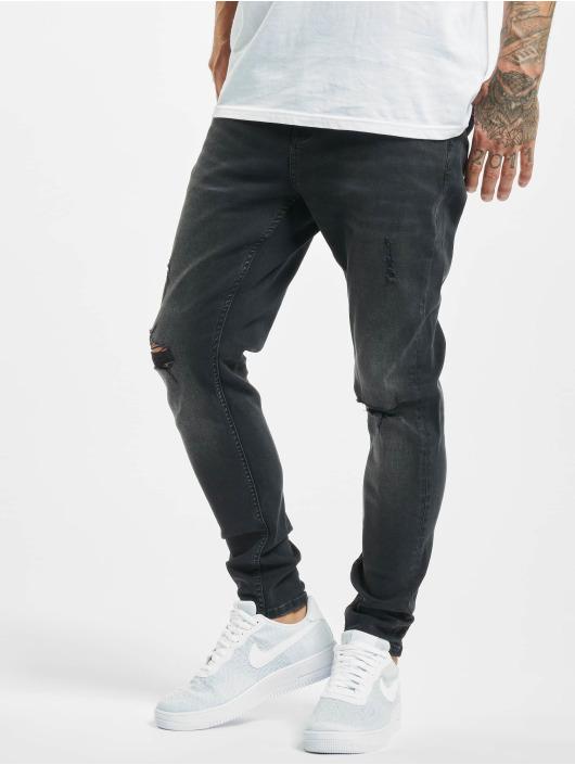 2Y Slim Fit -farkut Cansin musta
