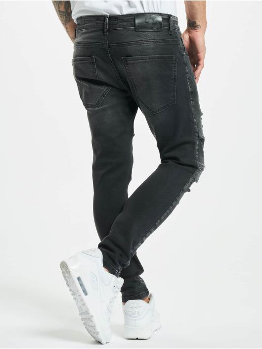 2Y Slim Fit -farkut Emin musta