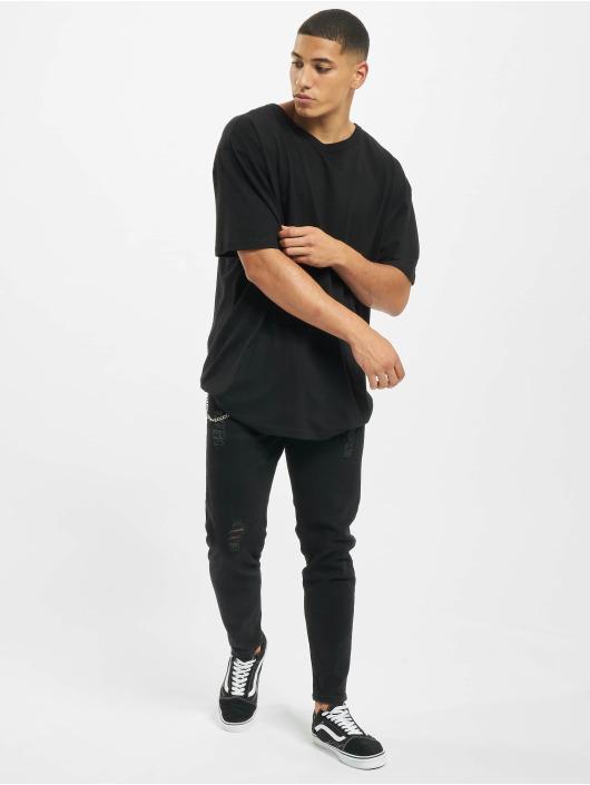 2Y Slim Fit -farkut Jakup musta