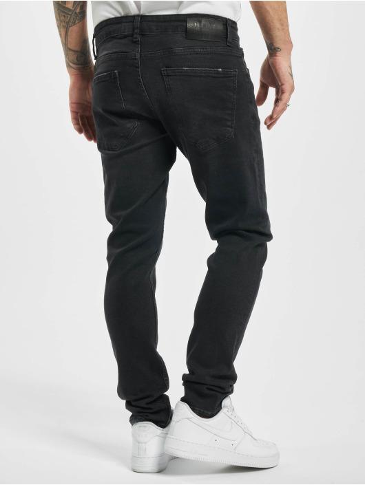 2Y Slim Fit -farkut Ronny musta